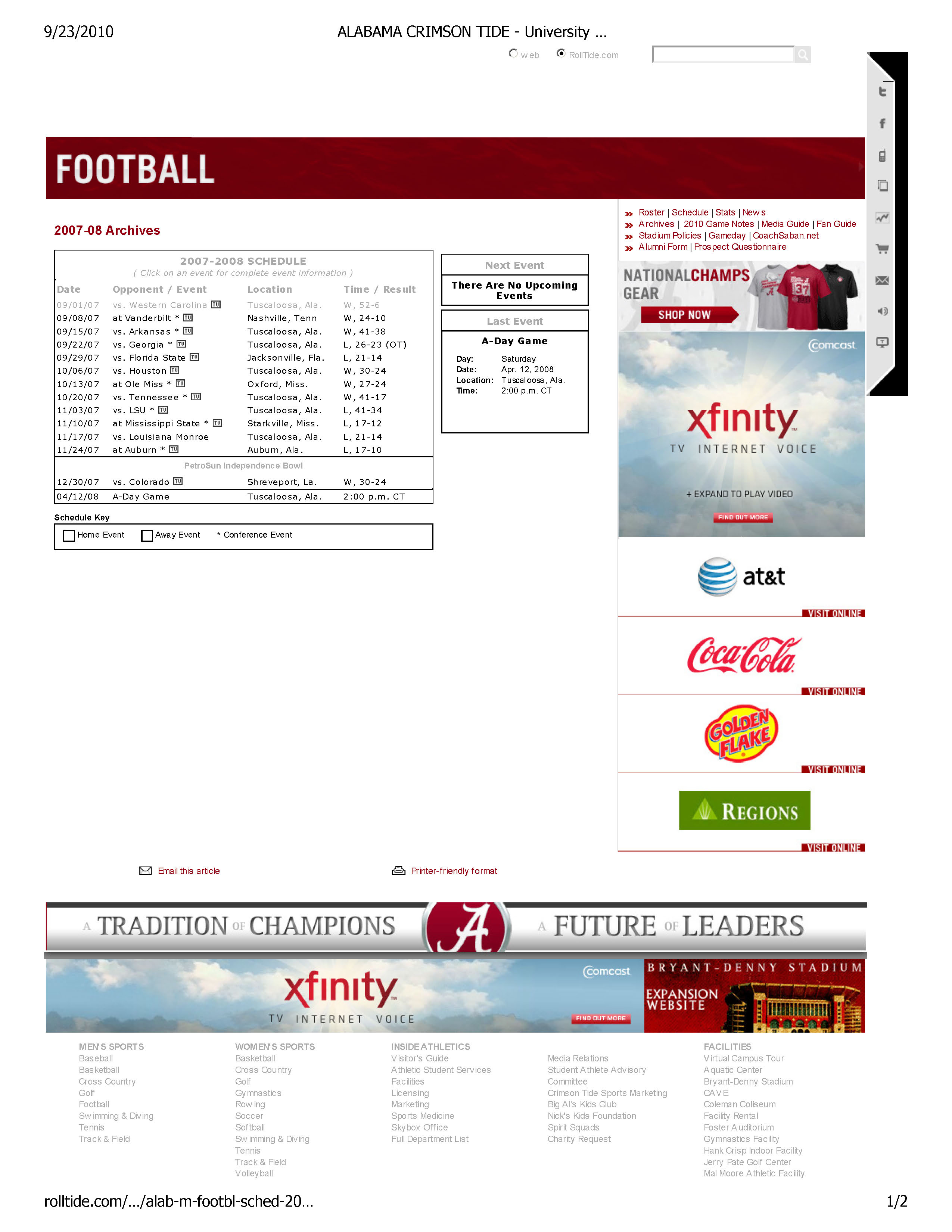 ALABAMA CRIMSON TIDE - University of Alabama Official Athletic Site - Football 2007-2008 Football Archives_Page_1