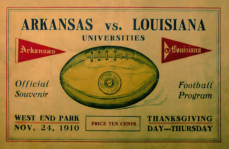 1910 Arkansas vs LSU : Hog Database