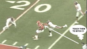 Dear SEC, THIS IS A HORSE COLLAR TACKLE ON ADAMS! 1