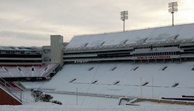 Razorback Stadium Snow2