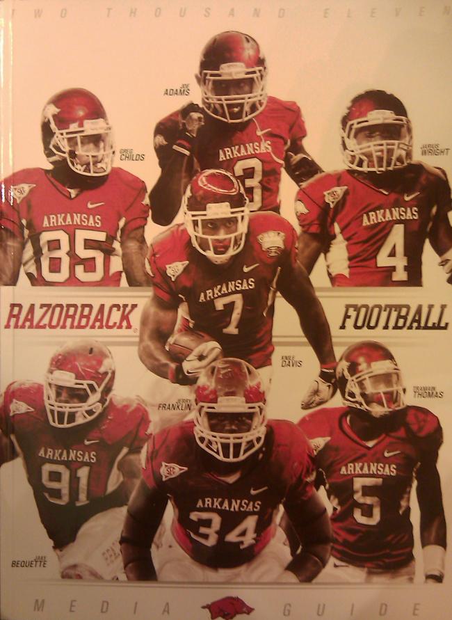 2011 razorback media guide cover