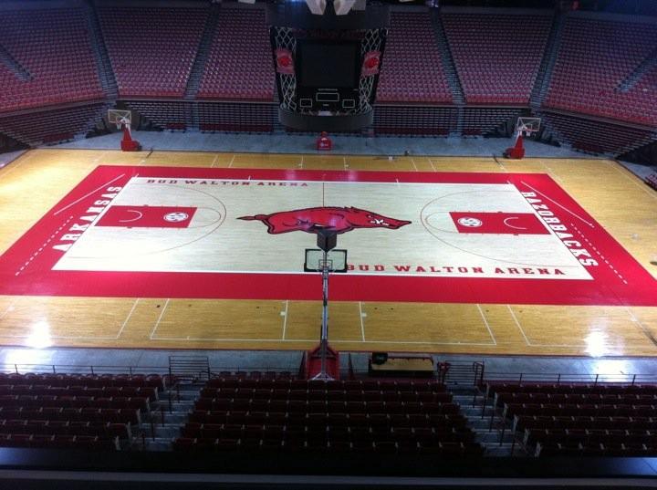 bud walton arena floor