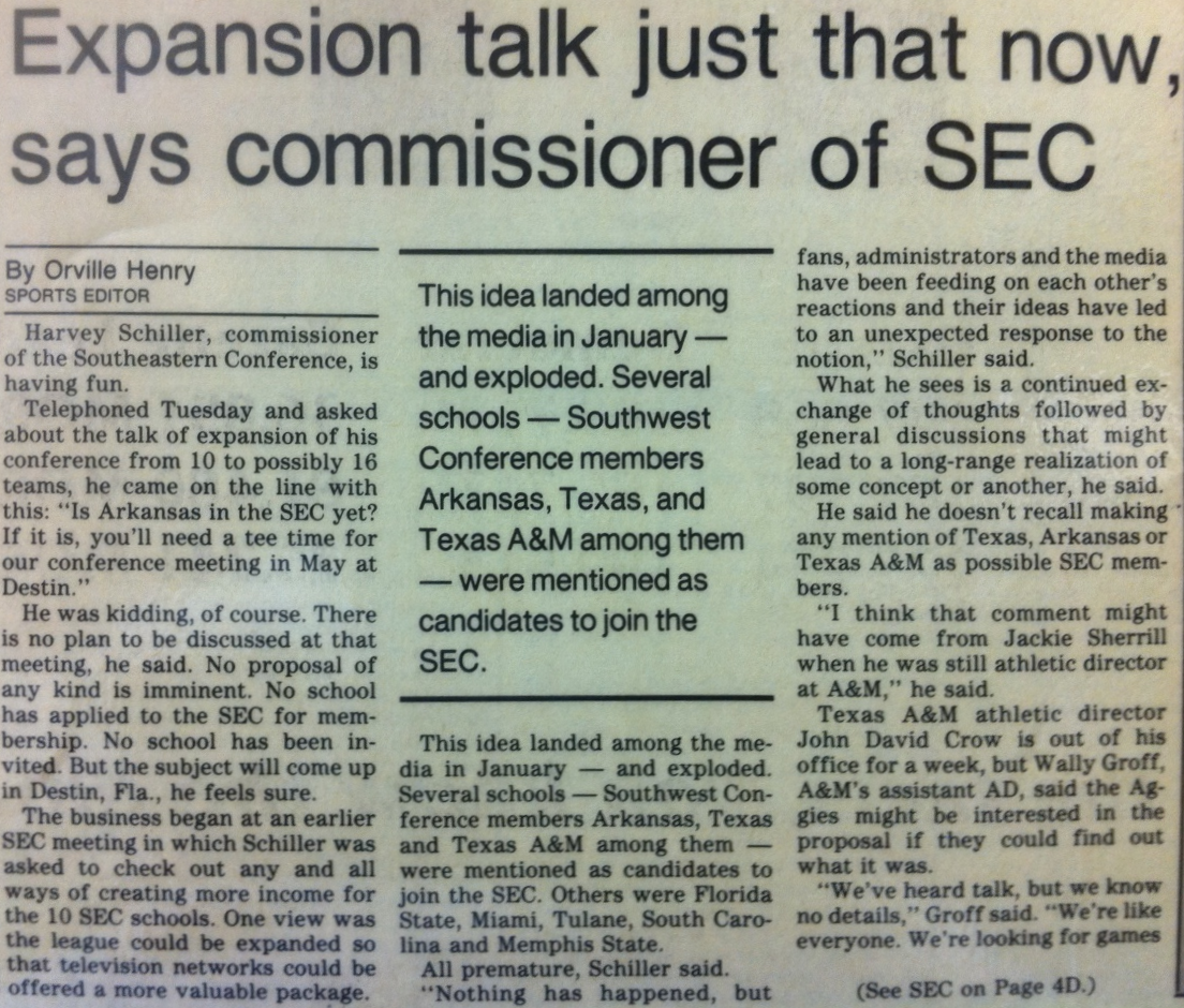 SEC Expansion 1989