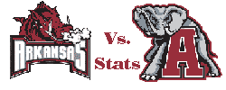 Arkansas v. Alabama logo Even Smaller Color Letters