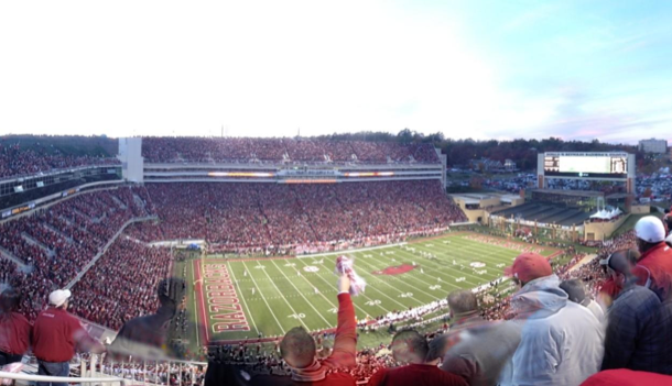 360 view razorback stadium
