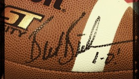 Bielema Signed ball at Saline County Razorback Club 3-27-2013