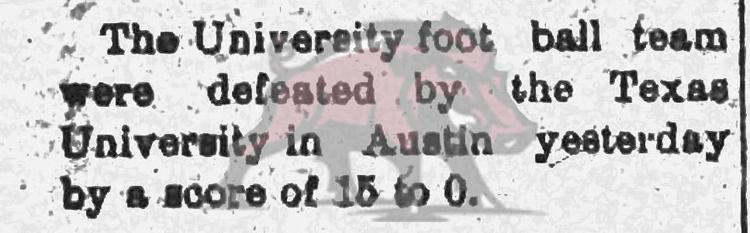 1903-10-30 Fayetteville Daily UA v Texas a