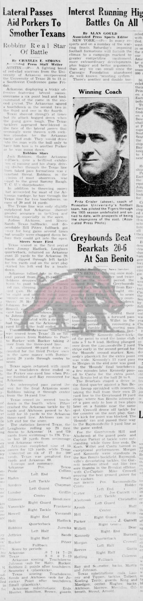 1935-11-23 Valley_Morning_Star_Harlingen- TX_Sat__Nov_23__1935 p. 5 Story Game 17