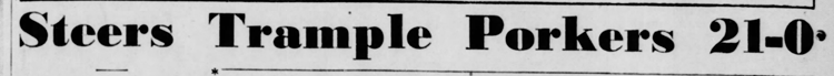 1940-10-20 Valley_Morning_Star_Sun__Oct_20__1940 p. 8 Headline Game 22