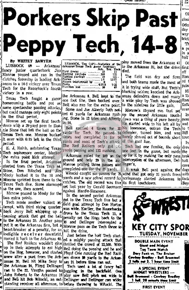 1958-11-23 Abilene_Reporter_News_Sun__Nov_23__1958 Porker Skip Past Preppy Tech