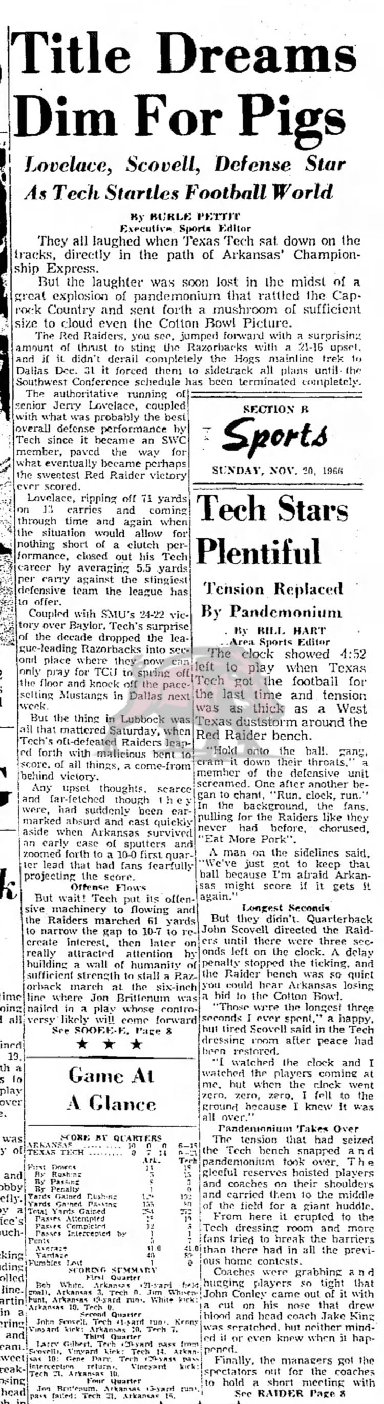 1966-11-20 Lubbock_Avalanche_Journal_Sun__Nov_20__1966 TTech Articles Part 1