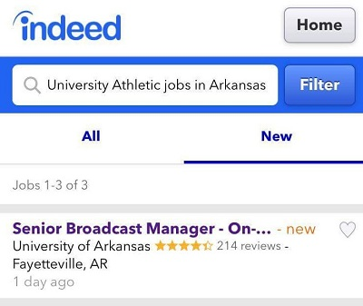 UA Appears Set to Hire Play-by-Play Talent for SEC Network Broadcasts